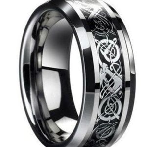 Other - Celtic Dragon Titanium Stainless Steel Men's Ring